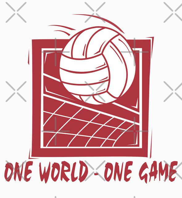 """Volleyball """"One World - One Game"""" by SportsT-Shirts"""