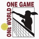 Volleyball One World One Game Women's by SportsT-Shirts