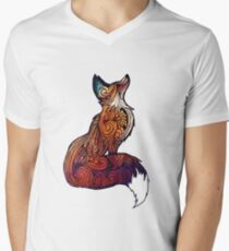 Space Fox Men's V-Neck T-Shirt