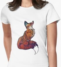 Space Fox Women's Fitted T-Shirt
