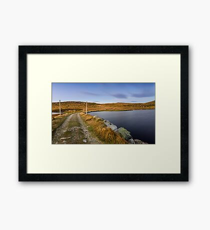 The Hut's Path  Framed Print