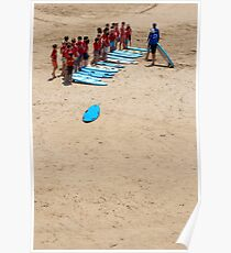 Surfing lesson Poster