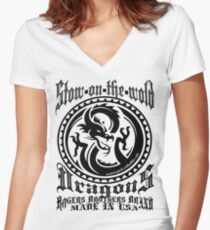 uk cotswolds dragons by rogers bros Women's Fitted V-Neck T-Shirt