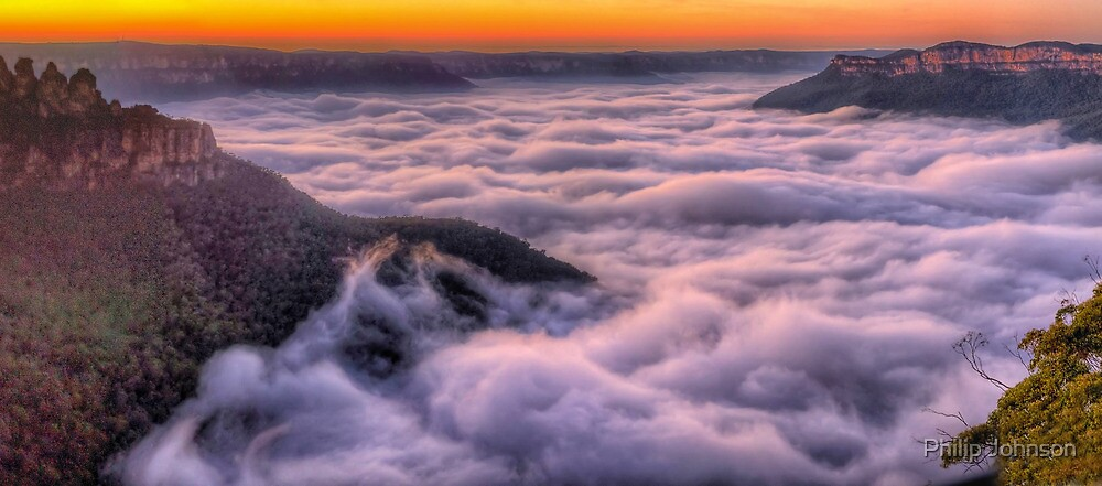 Surfs Up ! - Jamieson Valley, Blue Mountains World Heritage Area, Australia - The HDR Experience by Philip Johnson
