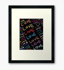 I Am In Love Framed Print