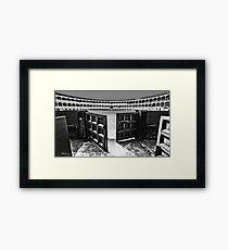 Ronda Bull Ring (Black and White) Framed Print