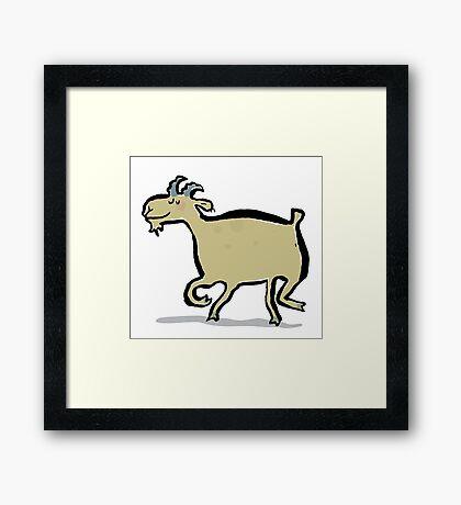 the dancing goat Framed Print