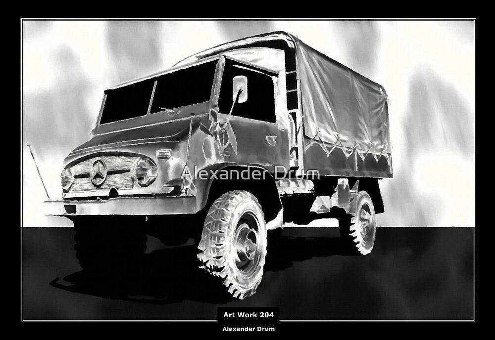 Art Work 204 Mercedes Unimog by Alexander Drum