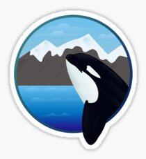 Framed Orca Sticker