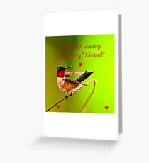 Happy Valentines Day High Wire Act Greeting Card