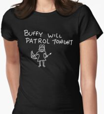 Patrolling Without a Voice Womens Fitted T-Shirt