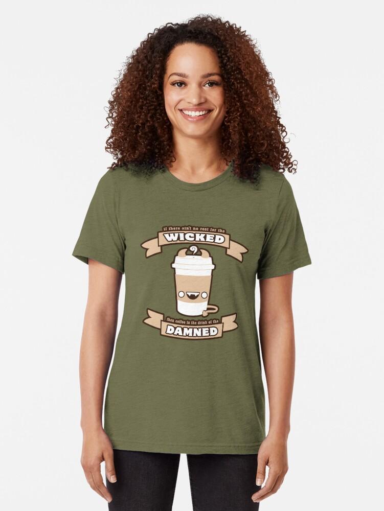 Alternative Ansicht von Getränk der Verdammten Vintage T-Shirt