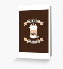 Drink of the Damned Greeting Card
