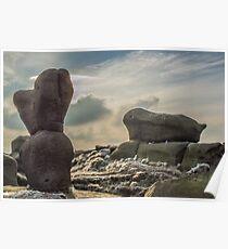 Wool Packs, Rock Formation on Kinder Scout, Derbyshire Poster