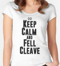 Keep Calm and Fell Cleave Women's Fitted Scoop T-Shirt