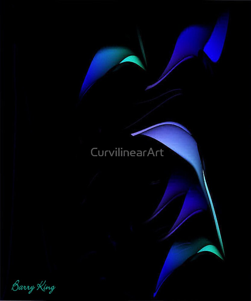 Curvilinear Project No. 7 ( Blue For You ) by CurvilinearArt