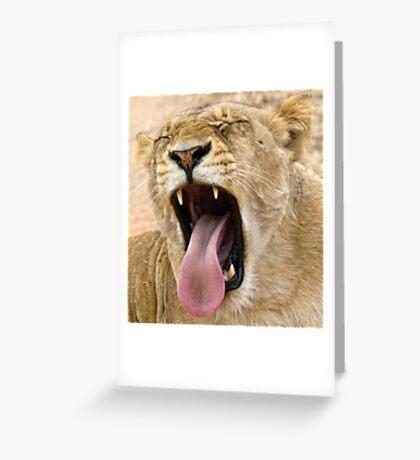 The Perfect Yawn Greeting Card