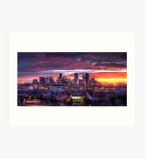 Denver Skyline Sunrise Art Print