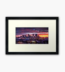 Denver Skyline Sunrise Framed Print