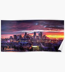 Denver Skyline Sunrise Poster