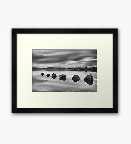 Loch Lomond Rocks Framed Print