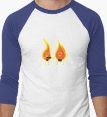 Naked Flames Men's Baseball ¾ T-Shirt