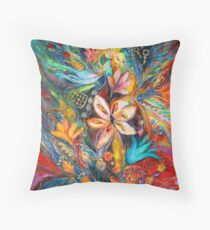 The Passion of Flowering Throw Pillow