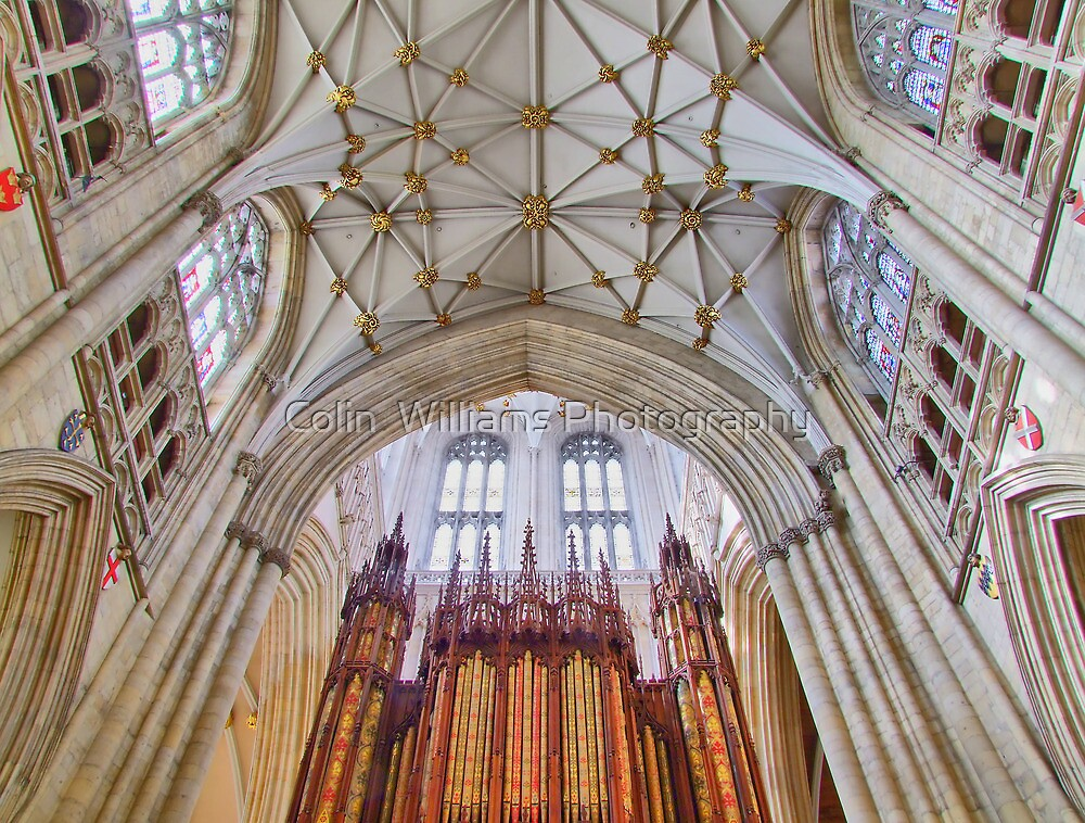 The Organ - York Minster - HDR by Colin  Williams Photography