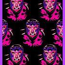 El Mascarado Wall Purple by counterpartfilm