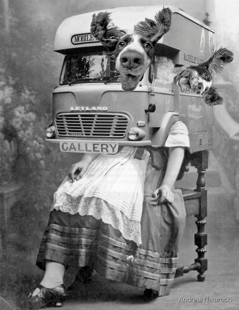 Portable Gallery Attendant. by Andrew Nawroski