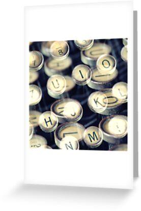Typewriter keys Art by Falko Follert