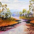 ovens river purple delights by Glen Johnson