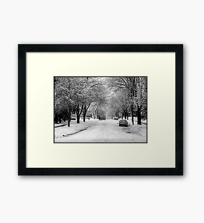 Everything is pretty when covered by snow © Framed Print