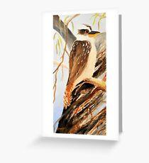kookaburra one of tryptage set Greeting Card