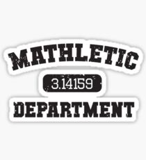 Mathletic Department Sticker