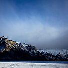 A storm brewing of Minnewanka by Justin Atkins