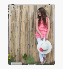 Lonely 12 year old with white hat iPad Case/Skin