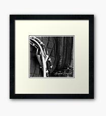 un tacked Framed Print