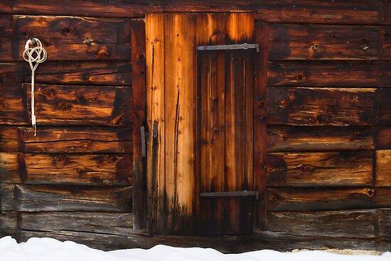 Cabin door by Walter Quirtmair