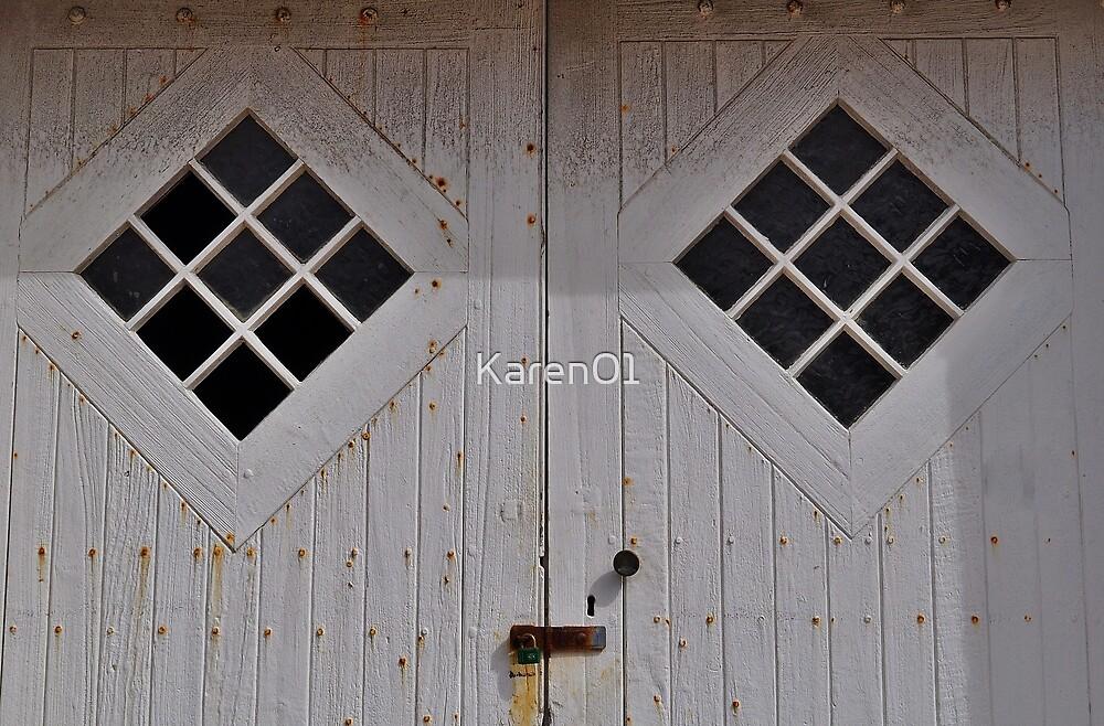 Double doors, Muizenberg by Karen01