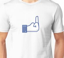 Facebook finger Unisex T-Shirt