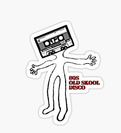 Old skool cassette man Sticker