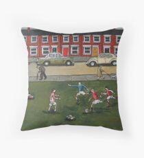 Jumpers For Goalposts Throw Pillow