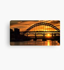 Newcastle at Sunset Canvas Print