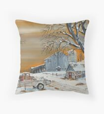 Pump House Path Throw Pillow