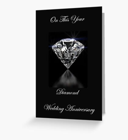On Your Diamond Wedding Anniversary Greeting Card