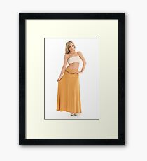 Gypsy Belted Maxi Skirt Framed Print