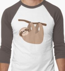 Cute Sloth on a Branch Men's Baseball ¾ T-Shirt