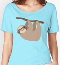 Cute Sloth on a Branch Women's Relaxed Fit T-Shirt
