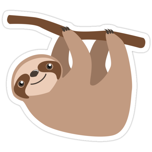 Quot Cute Sloth On A Branch Quot Stickers By Veronica Guzzardi